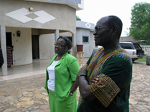 Dean Genniver Bell and Dr. Senyo Adjibolosoo