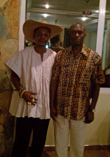 Daaim with Chief Nene Okukrubuour Teye Kwesi Agyemang V