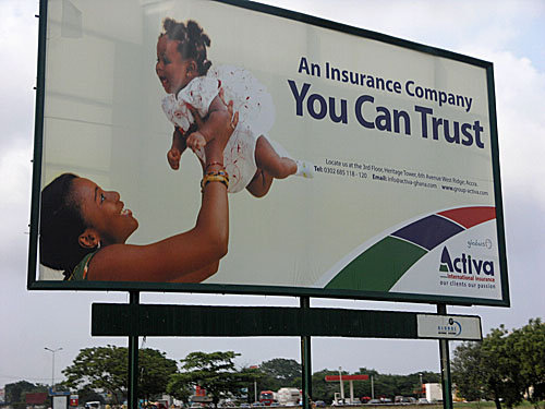 Ghana has such wonderful billboards... always full of happiness and with family themes.