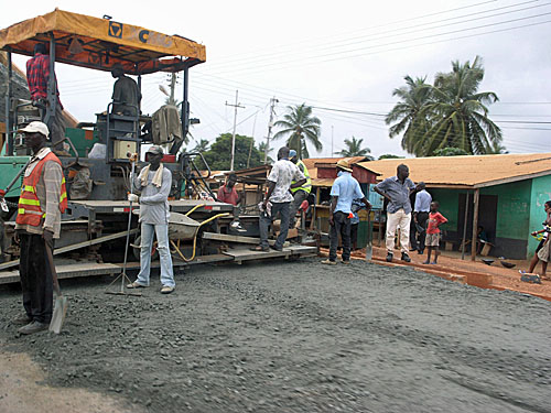 Badly-needed road construction. My host said that if the Ghanaian government only focused on building roads, it would take the country a long way.