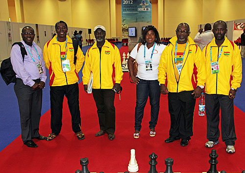 Ghana delegation at 2012 Chess Olympiad.