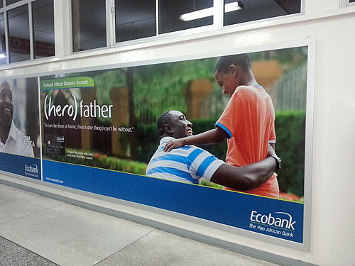 The ubiquitious ads around Ghana.