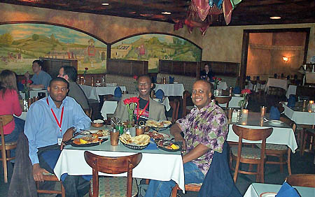 Indian dinner with Dr. Paul Obiamwe and Terrence DePeaza
