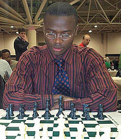 IM Amon Simutowe at 2005 HB Global Chess Tournament. Photo by Daaim Shabazz.