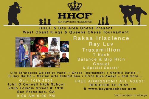 Hip-Hop Chess... Queens and Kings Invitational