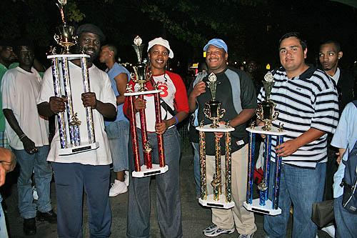 Prize winners... Ian Wiggins, Adia Onyango, David Pointer and IM Jairo W Moreira.