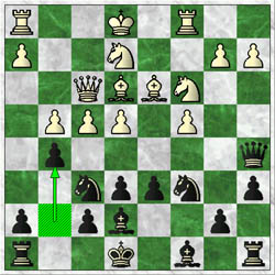 In Byfield-Shabazz, black played 12…g7-g5! to undermine protection for the e5-square.