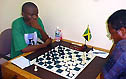Amon's 'last stand' against Douglas. Copyright © 2004, Jamaican Chess Federation.