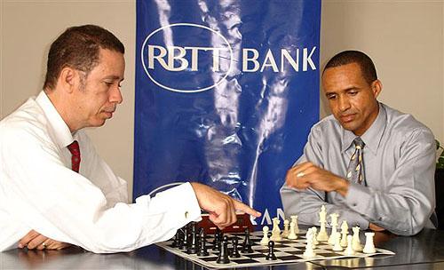 Allan Herbert with RBTT representative.