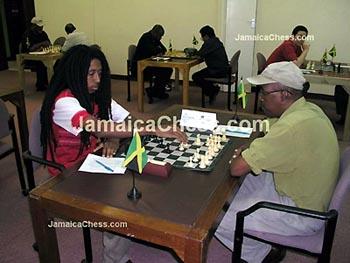 Ras Malaku Lorne vs. Bertram Scott. Copyright © 2004, JamaicaChess.com.