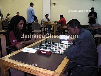 Ras Malaku Lorne vs. Daren Wisdom. Copyright © 2004, JamaicaChess.com