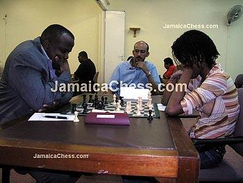 Duane Rowe vs. Deborah Richards. Copyright © 2004, JamaicaChess.com