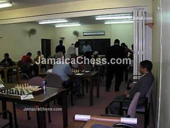 The Venue (1st round action). Copyright © 2004, JamaicaChess.com.