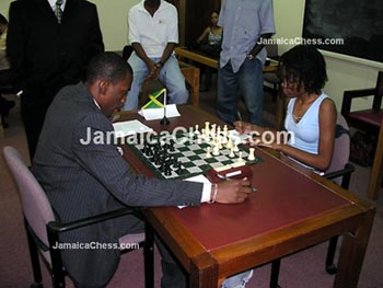 Daren Wisdom vs. Deborah Richards. Copyright © 2004, JamaicaChess.com.