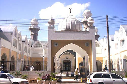 Jamia Mosque... located in the heart of Nairobi.