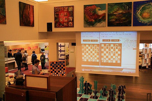 Playing Hall at the first-rate Wageningen Chess Club.