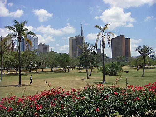 The scenic view of Uhuru Park.
