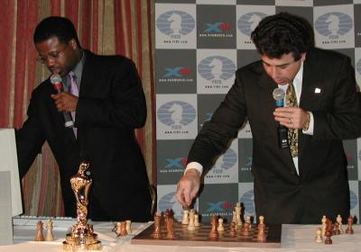 GMs Maurice Ashley and Yasser Seirawan provide commentary on  Game 3.