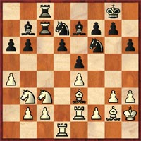 After Deep Junior's 23.Nb3?! Garry Kasparov played the thematic 23…Rxc3! And was on top after 24.bxc3 Bxe4.