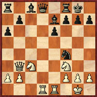 Diagram #1 (Kramnik-Kasparov, 2001 saw 13…Nxd5 14.Rad1 Nxf4!!?)