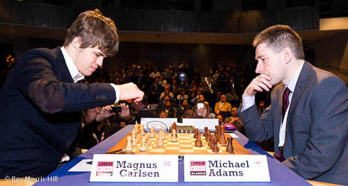 Magnus Carlsen vs. Michael Adams, 1-0