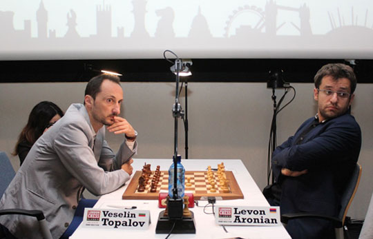 Topalov was throttled by Aronian. When it rains, it pours. Photo by Amruta Mokal (CheBase India).