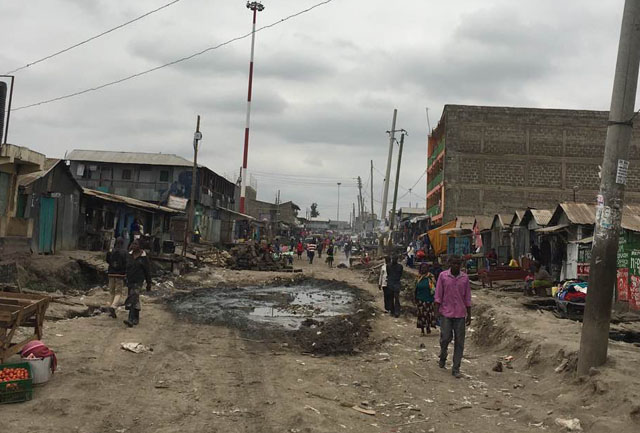 Mukuru kwa Njenga is a slum in the east of Nairobi, the capital of Kenya.
