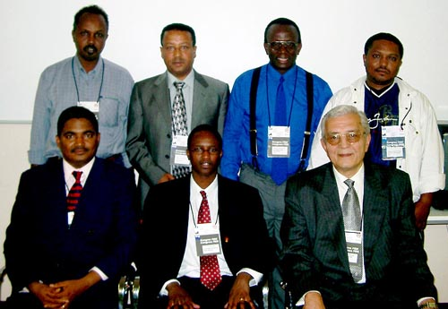 Representatives of Zone 4.2 pose after the African Continental Meeting. Copyright © Jerry Bibuld, 2002.