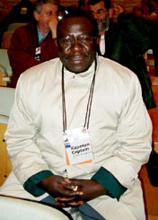 Charles Kuwaza, Zimbabwe Chess Federation. Copyright © Jerry Bibuld, 2002.