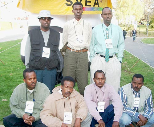 (front row, from left to right), Mohamad Roble (Bd. 1), Abdulle Jimale (Bd. 2), Maohamed Osman (Bd. 3) and  Sufi Hagi (Bd. 5); (in the rear, from left to right), Abukar Mohamud (Bd. 4), Abshir Osman (Bd. 6) and Ahmed Moalim Mohamed, (captain). Photo by Jerry Bibuld.