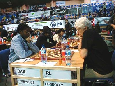Barbados vs. Ireland (Women). Copyright © Barbados Chess Federation, 2002.