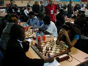 Barbados vs. Zambia (Women). Copyright © Barbados Chess Federation, 2002.