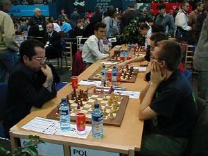 Cuba vs. Poland (Men). Copyright © Barbados Chess Federation, 2002.