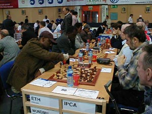 Ethiopia vs. ICPA (Physically-Challenged). Copyright © Barbados Chess Federation, 2002.