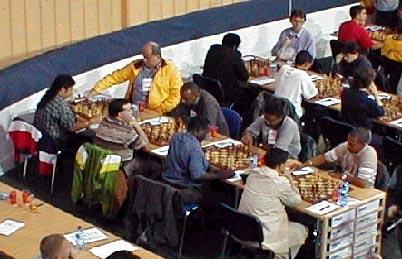 Round #2: Papua New Guinea vs. Barbados. Copyright © Barbados Chess Federation, 2002.