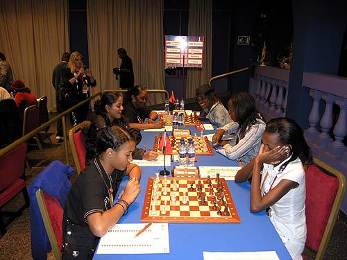 Trinidad and Tobago vs. Botswana - Board #1 (Sinead Furlong vs. Boikhutso Mudongo) Board #2 (Aditi Soondarsingh vs. Boitumelo Reetsang) Board #3 (Arlene Blackman vs. Tshepiso Lopang)