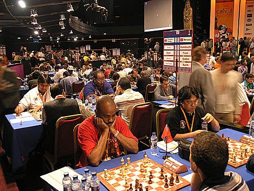 Trinidad vs. Morocco - (1st row facing camera - right to left) Frank Yee - board #4, Mario Merritt - board #3 (2nd row facing camera - right to left) Christo Cave - board #2, Ravishen Singh - board #1
