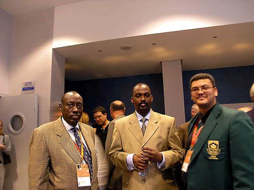 Lyndon Bouah at 2004 Chess Olympia in Calvia, Spain