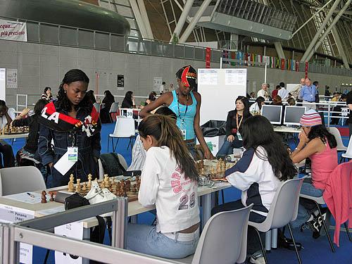 Angola vs. Panama (women). Copyright © 2006, Daaim Shabazz.