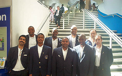 Barbados Team at Gatwick Airport (London)