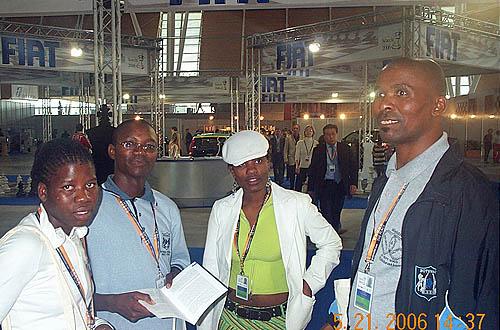 Botswana taking it easy in the lobby.