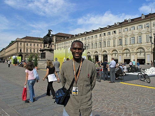 Touring the Piazza Castello in Turin, Italy