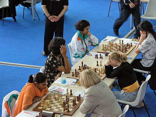 India vs. Croatia (women). Copyright © 2006, Daaim Shabazz.