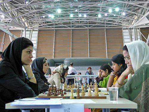 Iran vs. Bangladesh (women). Copyright © 2006, Daaim Shabazz.