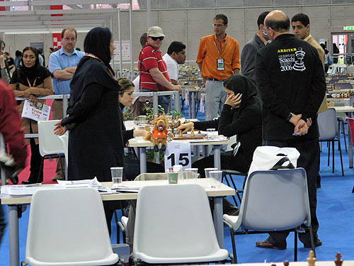 Waning moments of a tense draw… Iran couldn't save the match. Copyright © 2006, Daaim Shabazz.