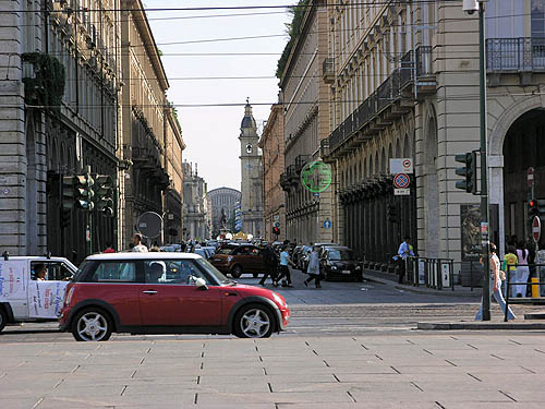 Italy has lots of small cars. Parking is very difficult, so SUVs are a rare sighting. Copyright © 2006, Daaim Shabazz.