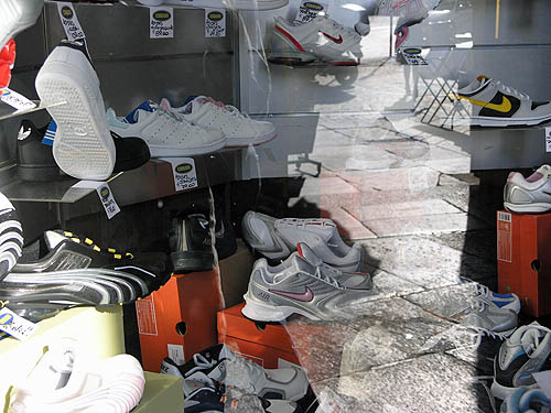 Shoe store… old Nike's in the background. Copyright © 2006, Daaim Shabazz.