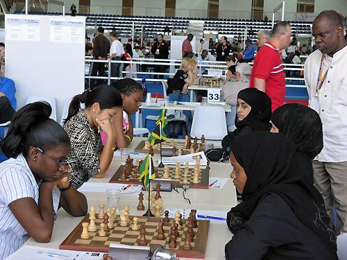 Jamaica vs. Qatar (women). Copyright © 2006, Daaim Shabazz.