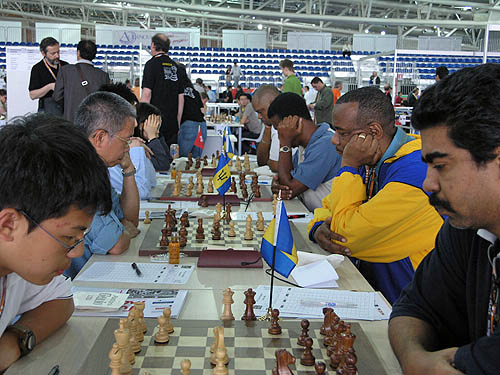South Korea vs. Barbados (men). Copyright © 2006, Daaim Shabazz.