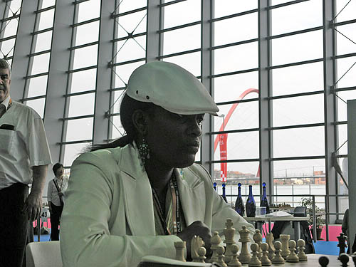 Tshepiso Lopang, national women's champion of Botswana. Copyright © 2006, Daaim Shabazz.